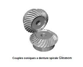 Couples coniques à denture spirale - gleason