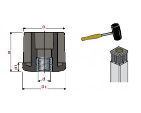 Adaptateur tube pour plot antivibratoire